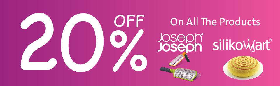 20% On Joseph Joseph and Silikomart