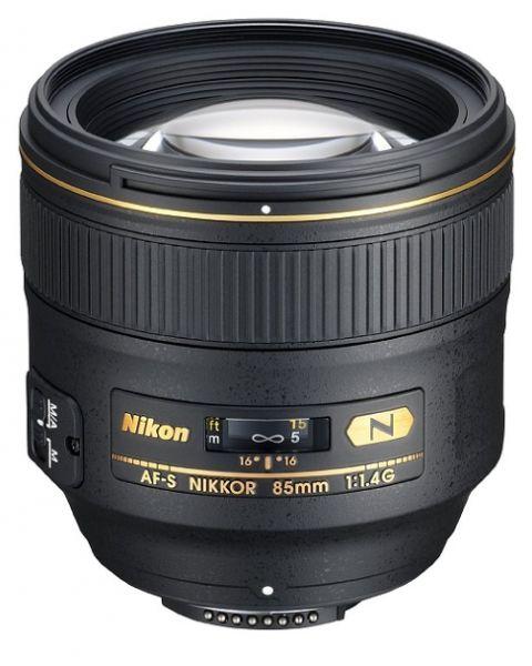 عدسة نيكور آي أف أس من نيكون 85 ملم أف/1.4 جي NIKON AF-S NIKKOR  85mm-front