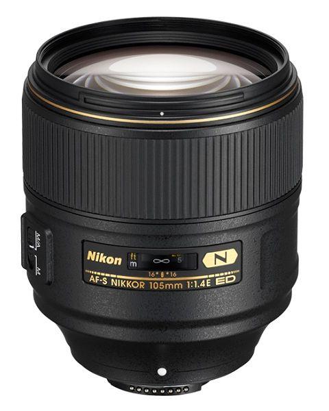 عدسة نيكور 105 مم،  AF-S، ED 1.4E JAA343DA Nikon AF-S NIKKOR 105mm f/1.4E ED-upright
