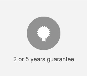 2 or  5 years guarantee